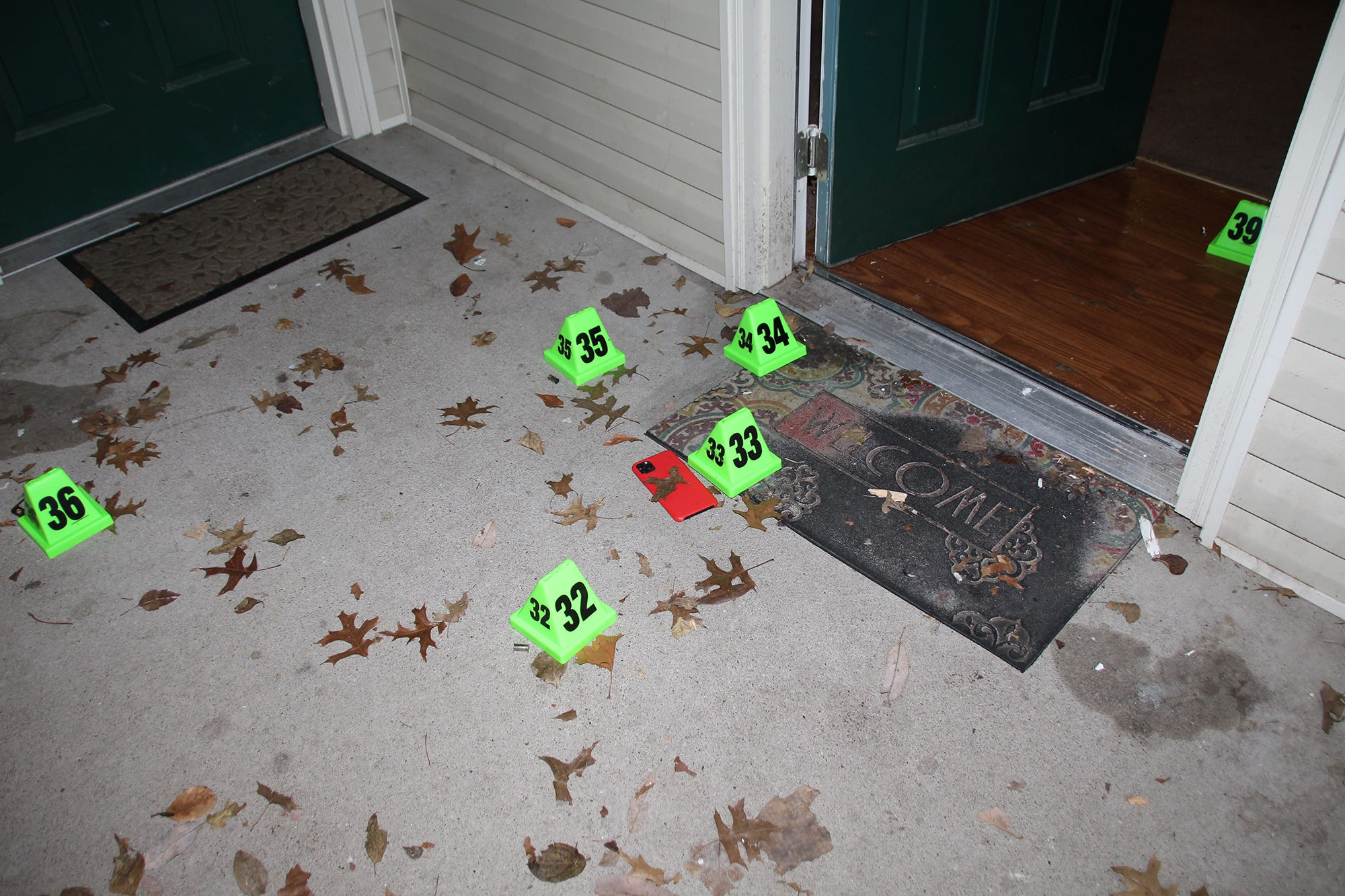 Louisville police crime scene photos from the Breonna Taylor shooting.