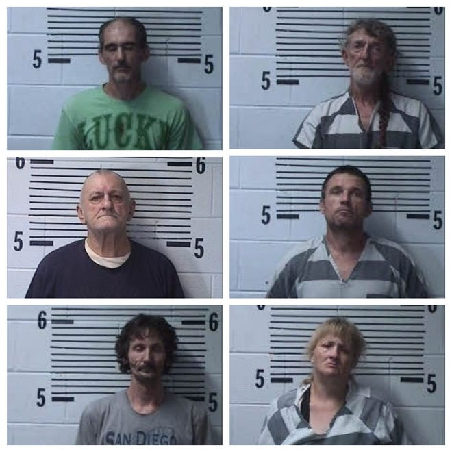 Clockwise from top left: John William Taylor, Charles Allen Frazier, Edward Donald Fulmer, Tania Rogers, George Fray, John Michael Kelley.