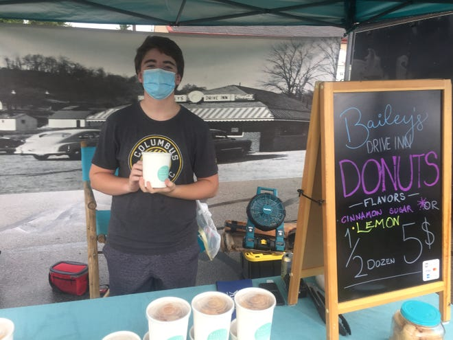 Josh Nelson of Bailey's Drive In Donuts is a frequent vendor at the Pataskala Farmers Market.
