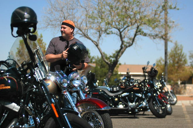 Jerry Wightman, of Las Cruces, prepares to take off from Barnett's Las Cruces Harley Davidson while participating in an MDA Raffle & Benefit Run in 2011. Barnett's announced it would be closing after being open for 20 years in Las Cruces.