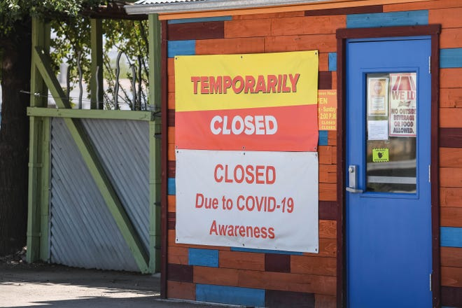 The Shed Restaurant is pictured temporarily closed due to COVID-19 awareness in Las Cruces on Friday, Sept. 4, 2020.