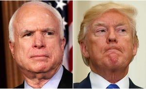 Sen. John McCain and President Donald Trump