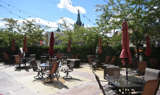 The spacious patio at Bello Cucina is pictured Thursday, Sept. 3, 2020, in St. Joseph.