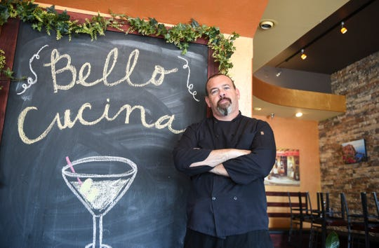 Bello Cucina owner and chef Jason Mueller poses for a photo Thursday, Sept. 3, 2020, in St. Joseph.
