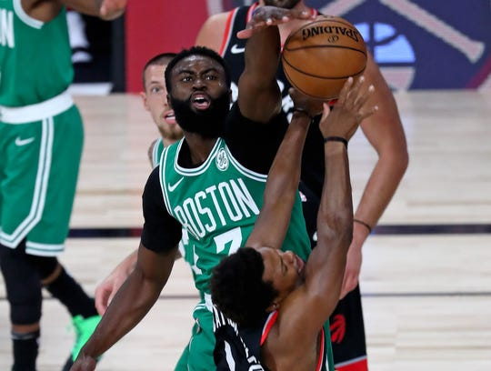 The Celtics' Jaylen Brown