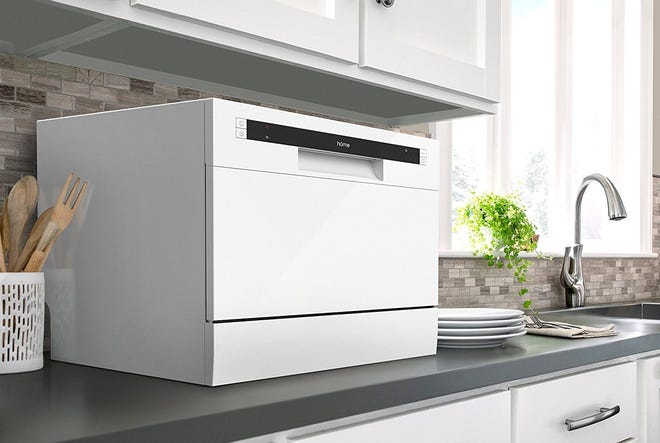 This countertop dishwasher is ideal for small kitchens.