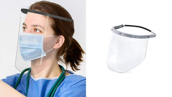 This three-pack of plastic face shields is on sale for less than $20.