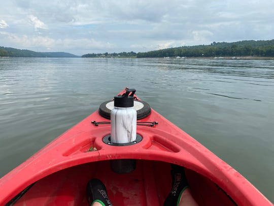 USA TODAY editor Jayme Deerwester out on the Ohio River.