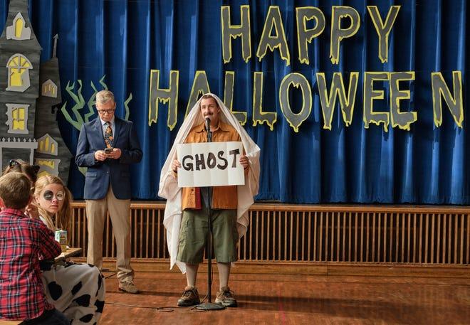 "Adam Sandler stars as big-hearted Hubie Dubois in the Netflix family comedy ""Hubie Halloween."""