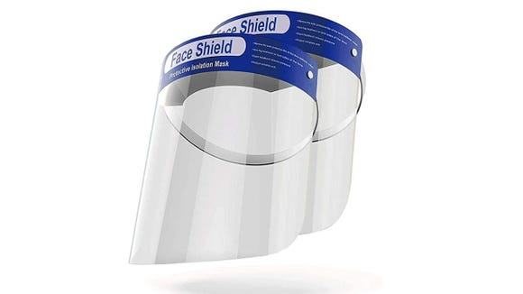 Nab a two-pack of these popular face shields.