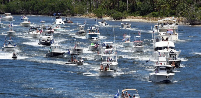 An Erie Lake boat parade in support of President Trump's re-election will begin at 1:30 p.m. Sunday at the Presque Isle Lighthouse and end at Dobbins Landing. A similar event was held May 3 on the Intracoastal Waterway from Jupiter to Mar-a-Lago in Palm Beach.