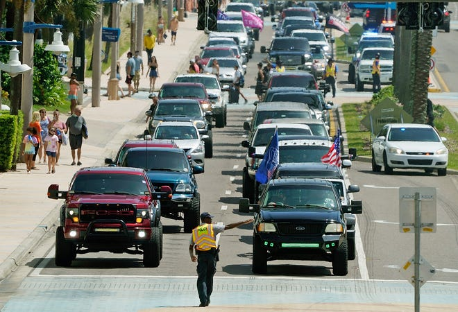 Traffic backs up on Atlantic Avenue in Daytona Beach during Labor Day weekend, when a truck event combined with holiday family visitors to create nightmare traffic congestion. Now, the five-day Daytona TruckToberfest has area residents and public safety officials bracing for another weekend of noise, rowdy behavior and traffic problems.