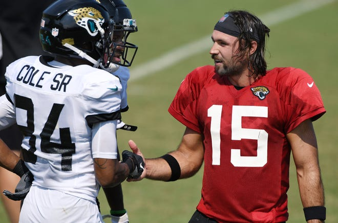The Jaguars can overcome low expectations for the 2020 season if quarterback Gardner Minshew (right) and a bunch of rookies grow up fast and Doug Marrone's young team can be better than the sum of its parts.