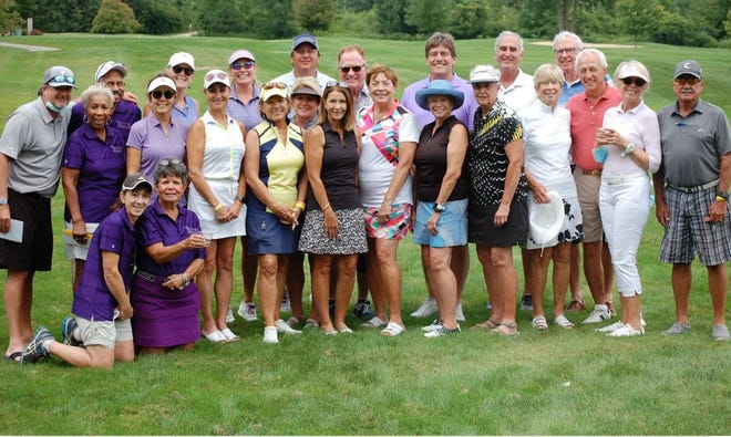 Some of the many golfers from Walden in Aurora who attended the Aug. 7 Kym Sellers Golf Outing for Multiple Sclerosis.