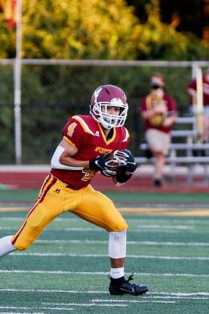 McCutcheon's Josh Garcia (4) runs the ball during the second quarter of an IHSAA football game, Friday, Sept. 4, 2020 in Lafayette.