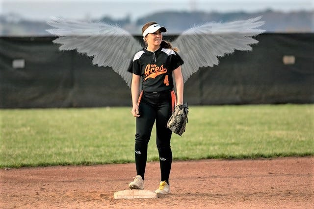 Amanda-Clearcreek senior Sophie Mazgay  played on the Aces' softball team. She was in an automobile accident and passed away last week.