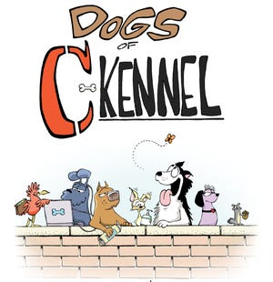 """""""Dogs of C-Kennel"""" is by Mick and Mason Mastroianni, grandsons of veteran comic-strip artist Johnny Hart."""