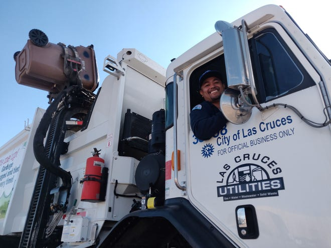 Jose Cereceres, Las Cruces Utilities Solid Waste Heavy Equipment Operator, is one of the friendly faces that pick up the trash in our city. LCU is looking to balance the shifts of its drivers to allow for a growing city.