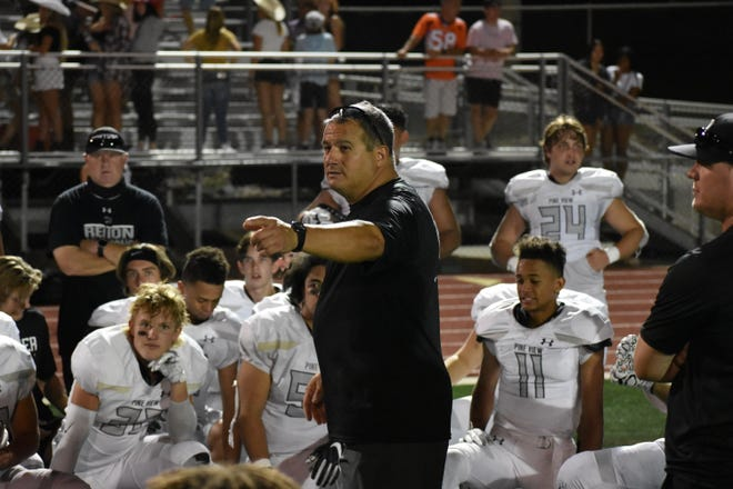 Pine View's Ray Hosner started his 20th season in Region 9 1-0 after a 49-20 win over Desert Hills.