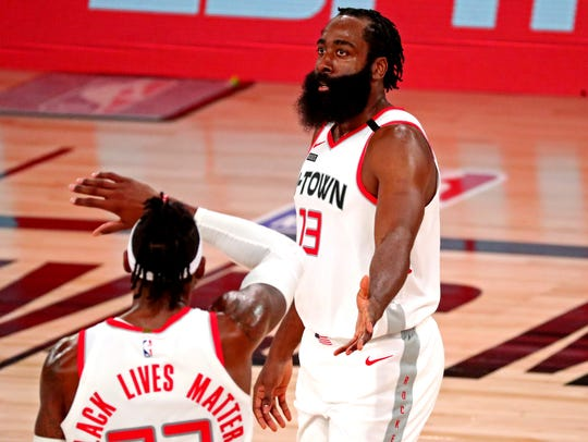 James Harden scored a game-high 36 points for the Rockets.