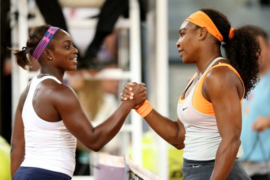 Sloane Stephens (left) and Serena Williams have met six times, with Stephens winning once, in the Australian Open quarterfinals in 2013.