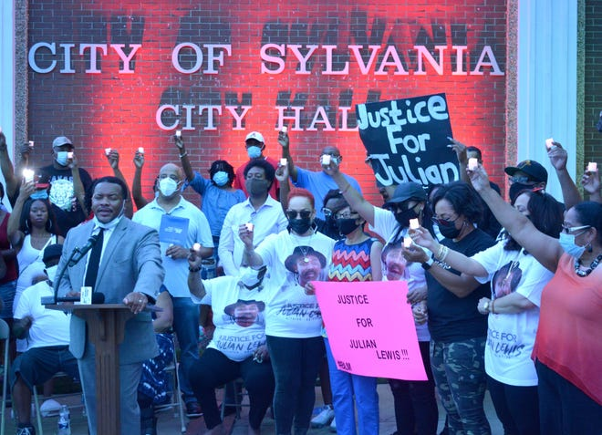 The Aug. 14 vigil for Julian Lewis in Sylvania, Ga.