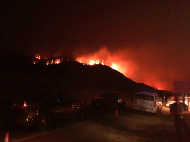 The Bridger Foothills fire Saturday night.
