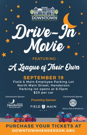 Downtown Henderson Partnership is planning a Drive-in Movie downtown on Sept. 19