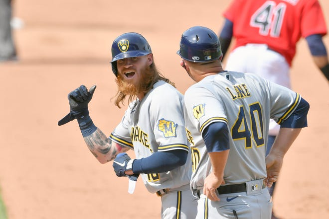 The Brewers placed Ben Gamel on the 10-day injured list, meaning he is done for the regular season.