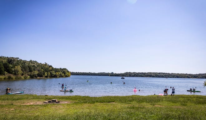 People spend the unofficial last weekend of summer on Percy Priest Lake on Sunday, Sept. 6, 2020.