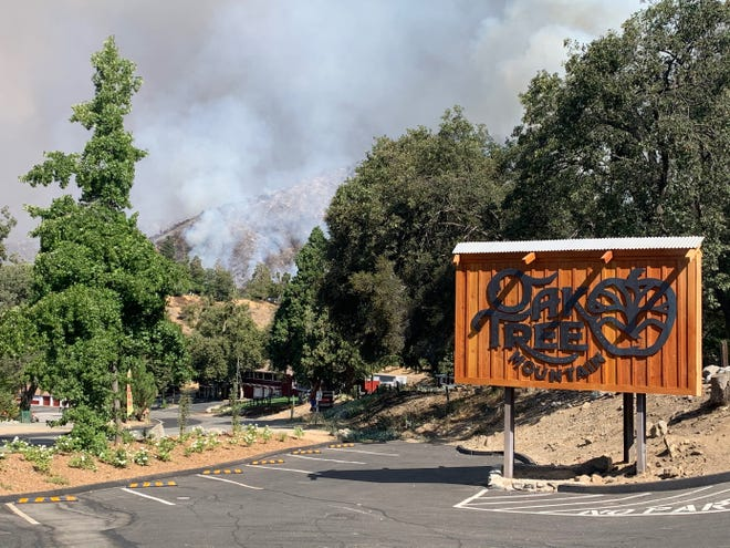 Oak Tree Mountain, a year-round recreation area, shut down in March due to the coronavirus pandemic and again on Aug. 1 because of the Apple Fire. It reopened for three hours Saturday before once again closing, this time due to the El Dorado Fire, owner Precious Dykstra said on Sunday, Sept. 6, 2020.