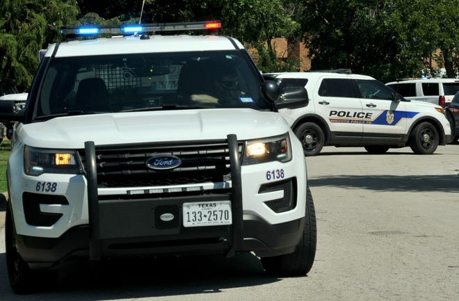 Wichita Falls police block off a portion of Sun Valley Drive after receiving a call for a check welfare Sunday afternoon.