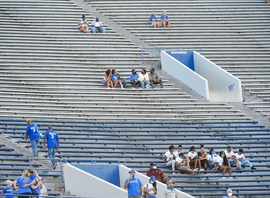 Memphis had about 4,500 fans at Liberty Bowl Memorial Stadium for the opener against Arkansas State.