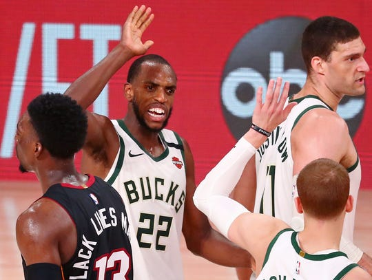 Khris Middleton scored a game-high 36 points for the Bucks.