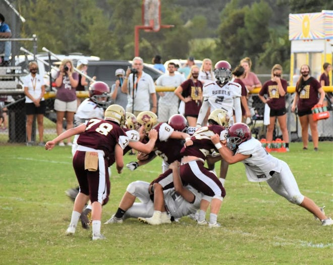 Thomas Heyward defeated Dorchester Academy on the road 38-14 on Friday night.