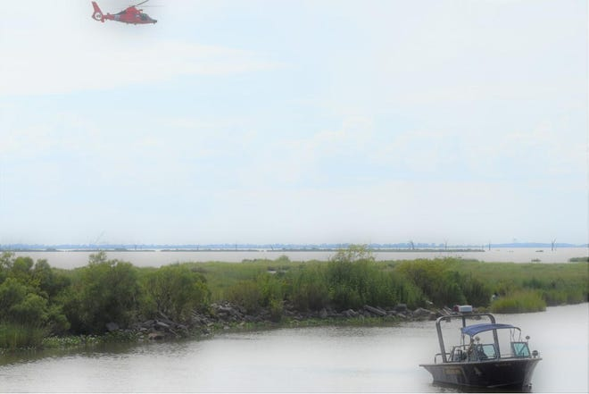 A Coast  Guard helicopter and Terrebonne Sheriff's Office Water Patrol boat search Sunday for a man missing in Boudreaux Canal near Cocodrie.