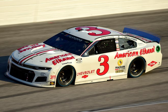Austin Dillon's Junior Johnson throwback paint scheme nearly paid off in victory Sunday night at Darlington. [NASCAR/Getty Images]
