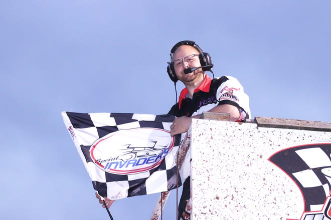 Burlington native Rodney Bliesener is in his fourth season as flagman for the Sprint Invaders.