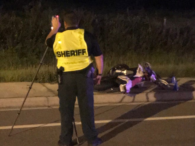 Two Polk County teenagers were killed Friday night in a motorcycle crash in Davenport.