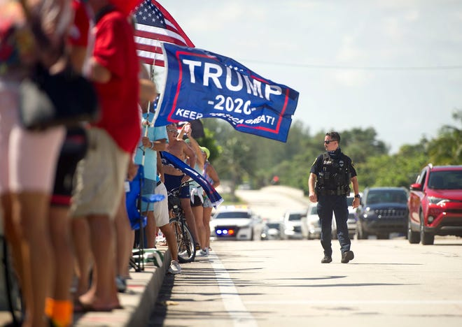 The Trump Labor Day Boat Parade starts near the Jupiter Inlet Lighthouse & Museum in Jupiter September 7, 2020. [MEGHAN MCCARTHY/palmbeachpost.com]