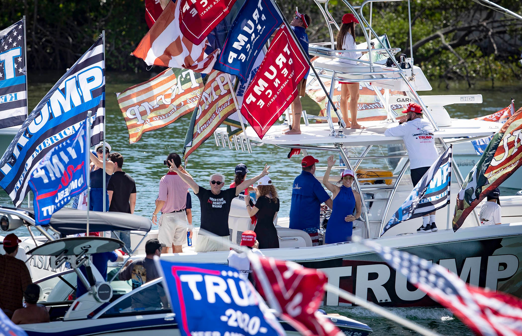 Labor Day Trump Parade Features Boats Bikinis And Parachutists