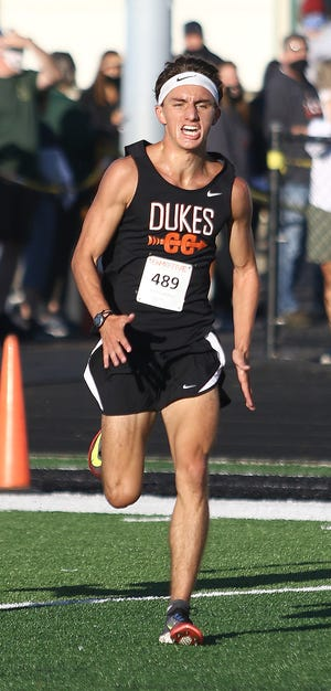 Marlington's Noah Graham placed first overall in the boys race at the 2020 Ashley White Cross Country Invitational held at Marlington High School on Saturday, September 5, 2020.