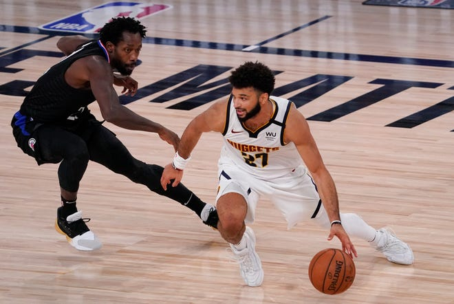 The Denver Nuggets and the Los Angeles Clippers resume their NBA conference semifinal playoff basketball series on Monday. (AP Photo/Mark J. Terrill)
