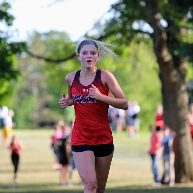 Reece Johnson took second individually in her first-ever varsity cross country meet to help the Roland-Story girls win the Lynx Invitational Sept. 1 in Webster City.