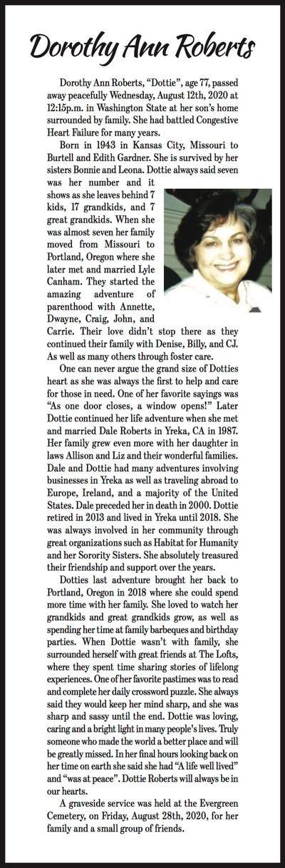 Obituaries in Yreka, CA   Siskiyou Daily News