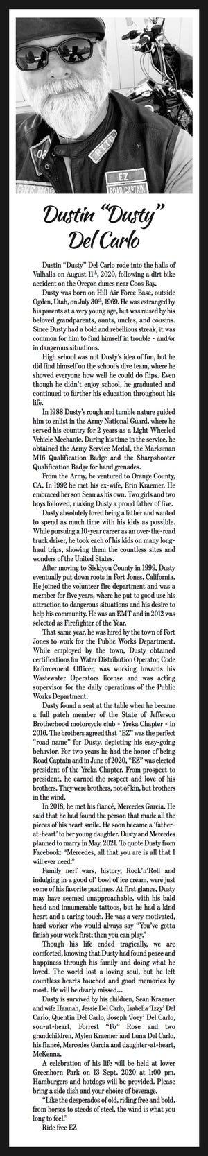 Obituary: 'Dusty' Del Carlo