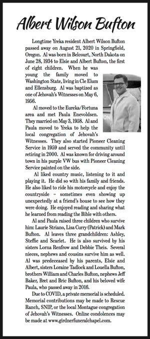 Obituary: Albert Wilson Bufton