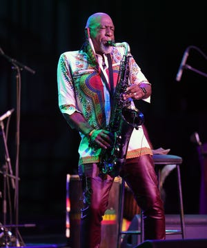 Dave McMurray and the Black Light Collective perform on the Carhartt Soundstage during the Detroit Jazz Festival held at the Renaissance Center on September 7, 2020.