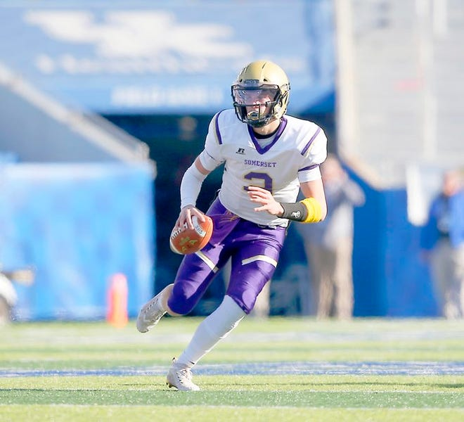 Quarterback Kaiya Sheron led Somerset to the Class 2A state football championship in 2019 and has committed to the University of Kentucky.