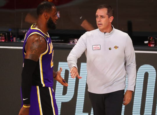 Frank Vogel, LeBron James and the Lakers have been in the NBA bubble for about two months now.
